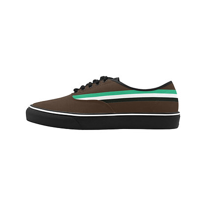 MEN'S ROYAL COAT OF ARMS STRIPED CLASSIC CANVAS LOW TOPS // Multicolor