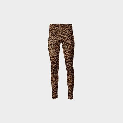 CRUSHED VELOUR HIGH-WAIST LEGGINGS // Leopard Print