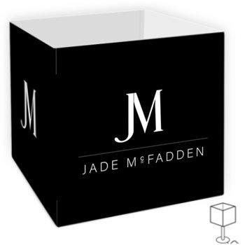 JM COMPANY LOGO TABLE LAMP SHADE // Black & White