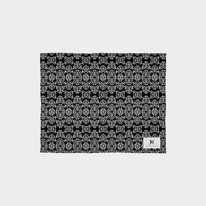 SILK SCARF WRAP (SHAWL) // Black & White Damask Print