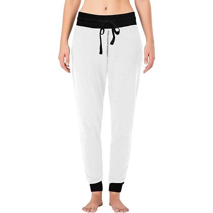 WOMEN'S LOUNGE JOGGER PANTS // White & Black
