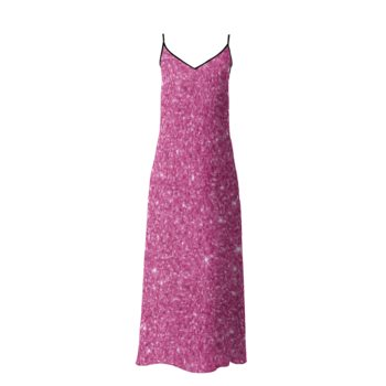 SOPHIA SLIP DRESS // Pink Sparkle