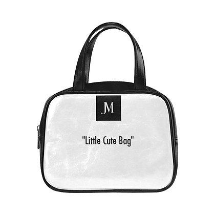 "JM ""Little Cute Bag"" TOP HANDLE HANDBAG // White & Black"