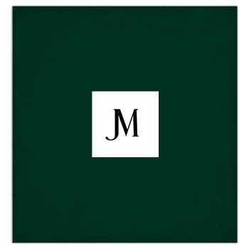 JM COMPANY LOGO 3-PIECE DUVET BEDDING SET #6 // Dark Green, White, & Black