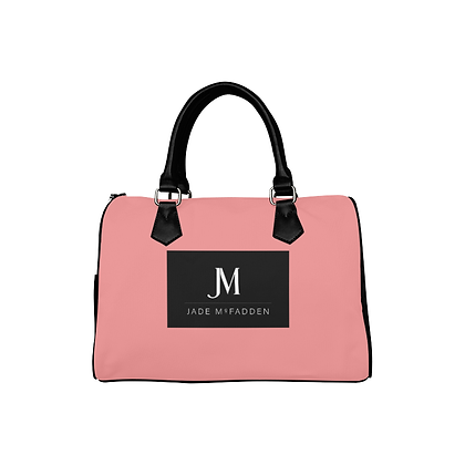 JM COMPANY BARREL HANDBAG // Soft Pink, Black, & White