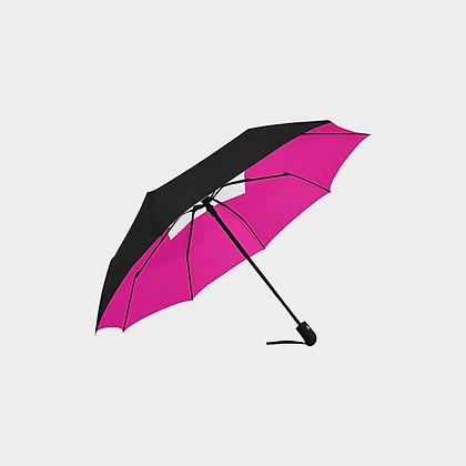 JM LOGO ANTI-UV AUTOMATIC UMBRELLA // Black, Pink, & White