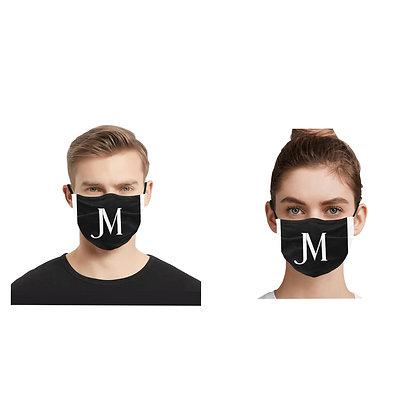 JM LOGO ADULT PLEATED DUST COVER FACE MASK // Black & White