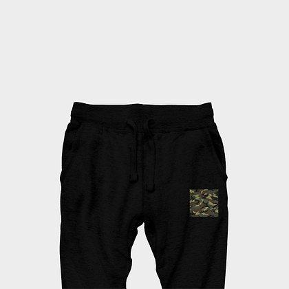 PREMIUM JOGGER PANTS // Black & Green Camouflage