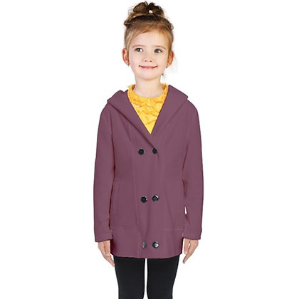 KIDS DOUBLE-BREASTED BUTTON COAT // Grape