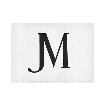 JM LOGO AREA RUG // White & Black