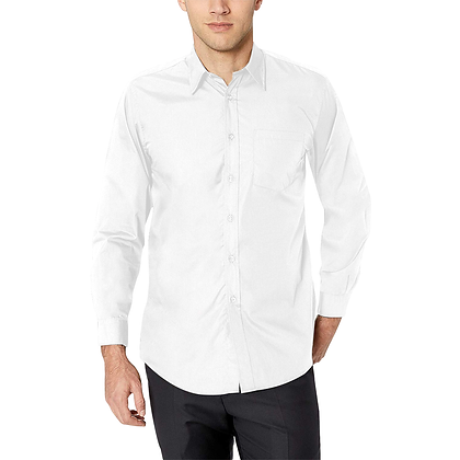 MEN'S CLASSIC LONG SLEEVE BUTTON-UP SHIRT // White