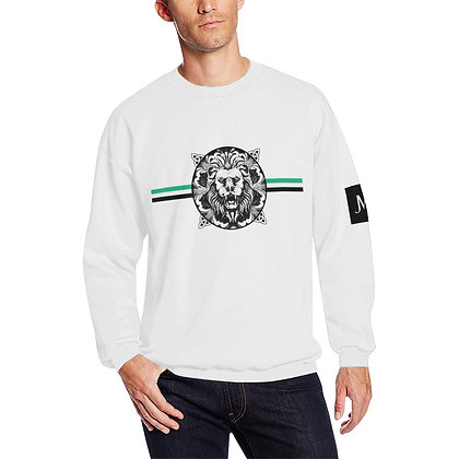 MEN'S ROYAL COAT OF ARMS CREWNECK SWEATSHIRT // White, Black, & Jade Green