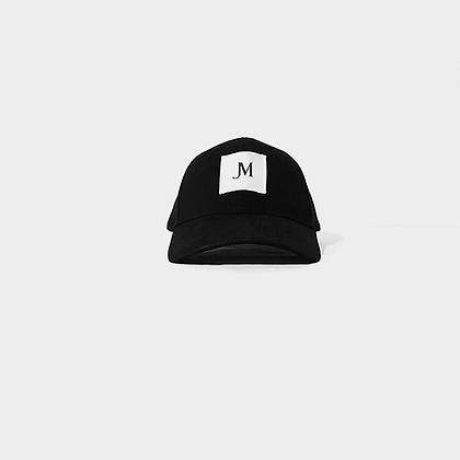 SIGNATURE JM LOGO PATCH CAP (DAD HAT) // Black with White Patch