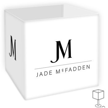 JM COMPANY LOGO TABLE LAMP SHADE // White & Black