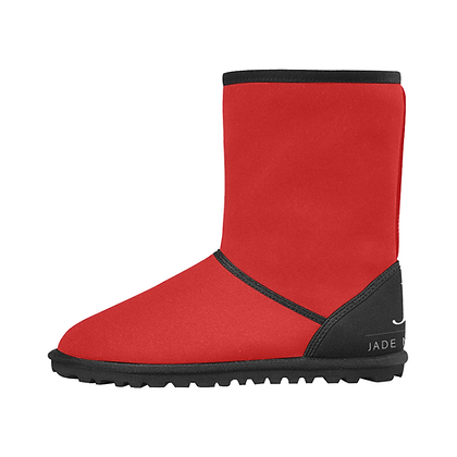 KIDS JM COMPANY SNOW BOOTS // Red, Black, & White