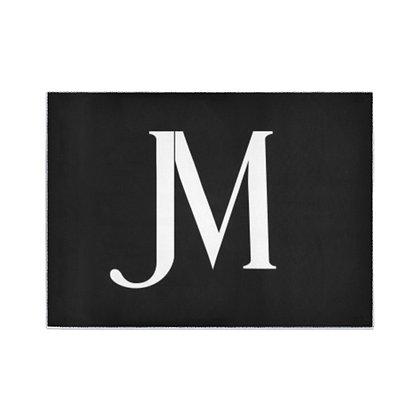 JM LOGO AREA RUG // Black & White
