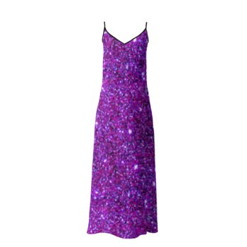 SOPHIA SLIP DRESS // Purple Sparkle