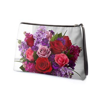 THE EXCLUSIVE LEATHER DIANE CLUTCH // Floral Print, Abstract, & JM Logo