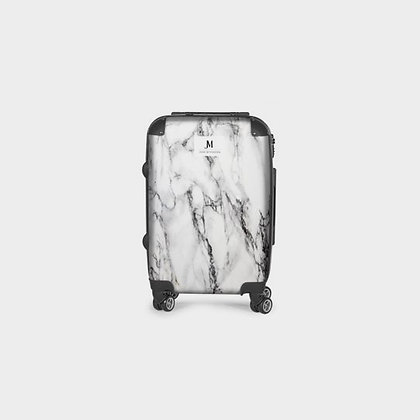 MARBLE SWIVEL SUITCASE // White & Black