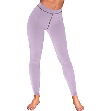 WOMEN'S LOW RISE LEGGINGS (OUTSIDE SERGING) // Lavender