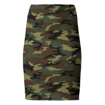 PONTE JERSEY PENCIL SKIRT // Camouflage