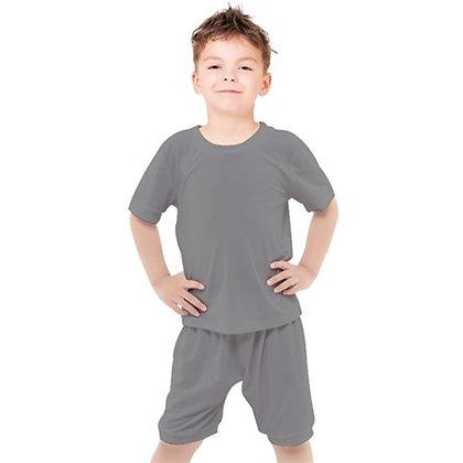 BOYS CASUAL TEE AND SHORTS SET // Grey