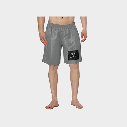 MEN'S JM HYBRID SWIM TRUNKS // Grey, Black, & White