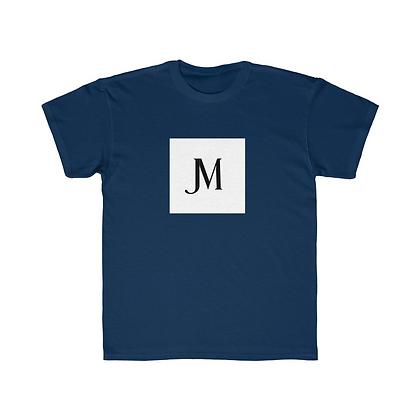KIDS SHORT SLEEVE JM LOGO REGULAR FIT TEE // Navy Blue, White, & Black