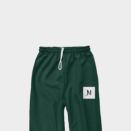 EXCLUSIVE JM CLASSIC SWEATPANTS // Forest Green, White, & Black