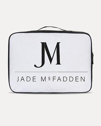 JM COMPANY LOGO JETSETTER TRAVEL CASE // White & Black