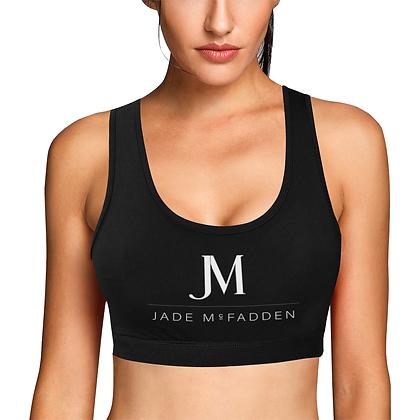 WOMEN'S JM COMPANY HYBRID SPORTS BRA // Black, White, & Red
