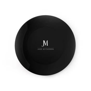 JM COMPANY ACCENT DINNER PLATE // Black & White