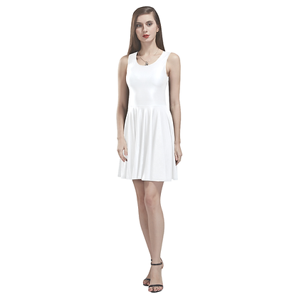 SLEEVELESS SKATER DRESS // White