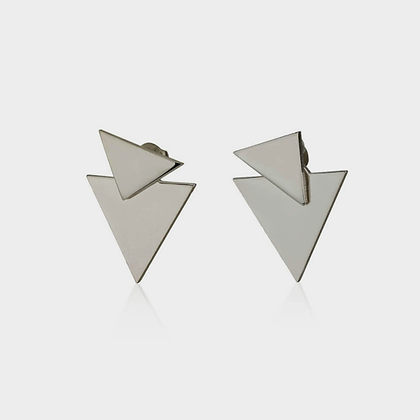 CHEVRON EAR JACKET EARRINGS