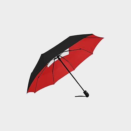 JM LOGO ANTI-UV AUTOMATIC UMBRELLA // Black, Red, & White