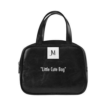 "JM ""Little Cute Bag"" TOP HANDLE HANDBAG // Black & White"
