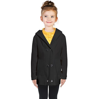 KIDS DOUBLE-BREASTED BUTTON COAT // Black