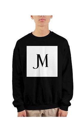 EXCLUSIVE JM LOGO CREWNECK SWEATSHIRT // Black with JM Logo