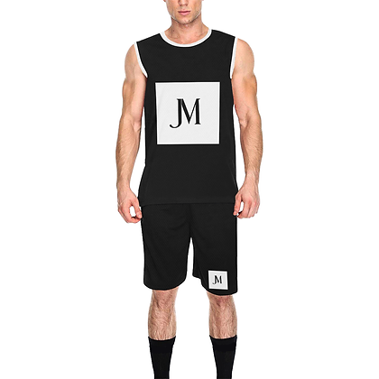 MEN'S JM COMPANY ATHLEISURE BASKETBALL TRACKSUIT // Black & White