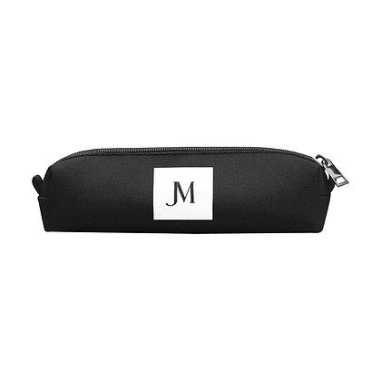JM LOGO PENCIL POUCH // Black & White