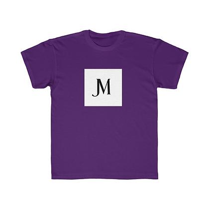 KIDS SHORT SLEEVE JM LOGO REGULAR FIT TEE // Purple, White, & Black