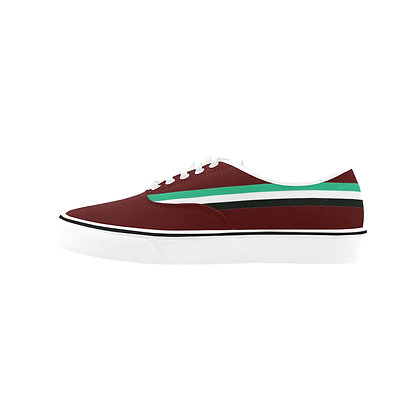WOMEN'S ROYAL COAT OF ARMS STRIPED CLASSIC CANVAS LOW TOPS // Multicolored