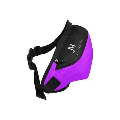 JM COMPANY LOGO WAIST BAG // Neon Purple, Black, & White