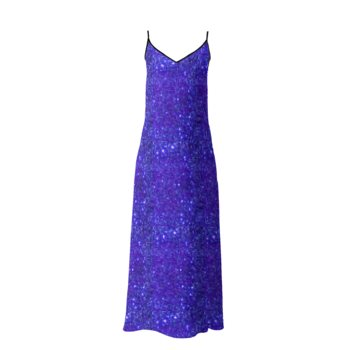 SOPHIA SLIP DRESS // Dark Blue Sparkle