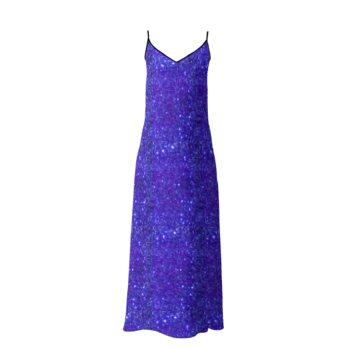 SOPHIA SLIP DRESS // Dark Blue Sparkle