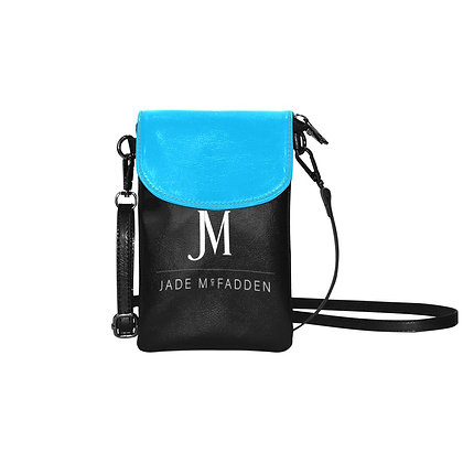 JM COMPANY LOGO VEGAN LEATHER CELL PHONE CROSSBODY BAG // Multicolored
