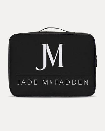 JM COMPANY LOGO JETSETTER TRAVEL CASE // Black & White