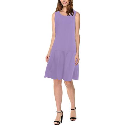 WOMEN'S SLEEVELESS SPLICING SHIFT DRESS // Lavender