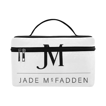 JM COMPANY WATERPROOF COSMETIC BAG // White & Black