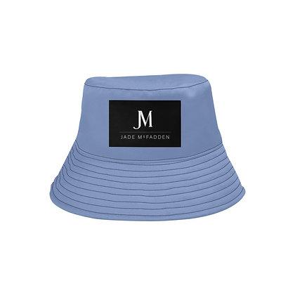 JM COMPANY LOGO UNISEX BUCKET HAT // Periwinkle Blue, Black & White